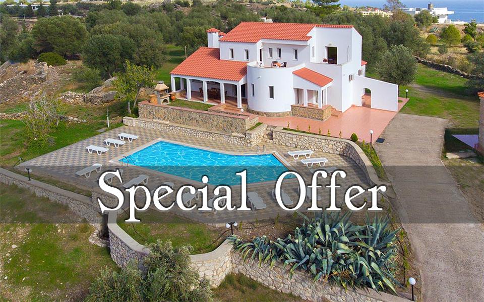 Rhodes Holidays Special offer Villas