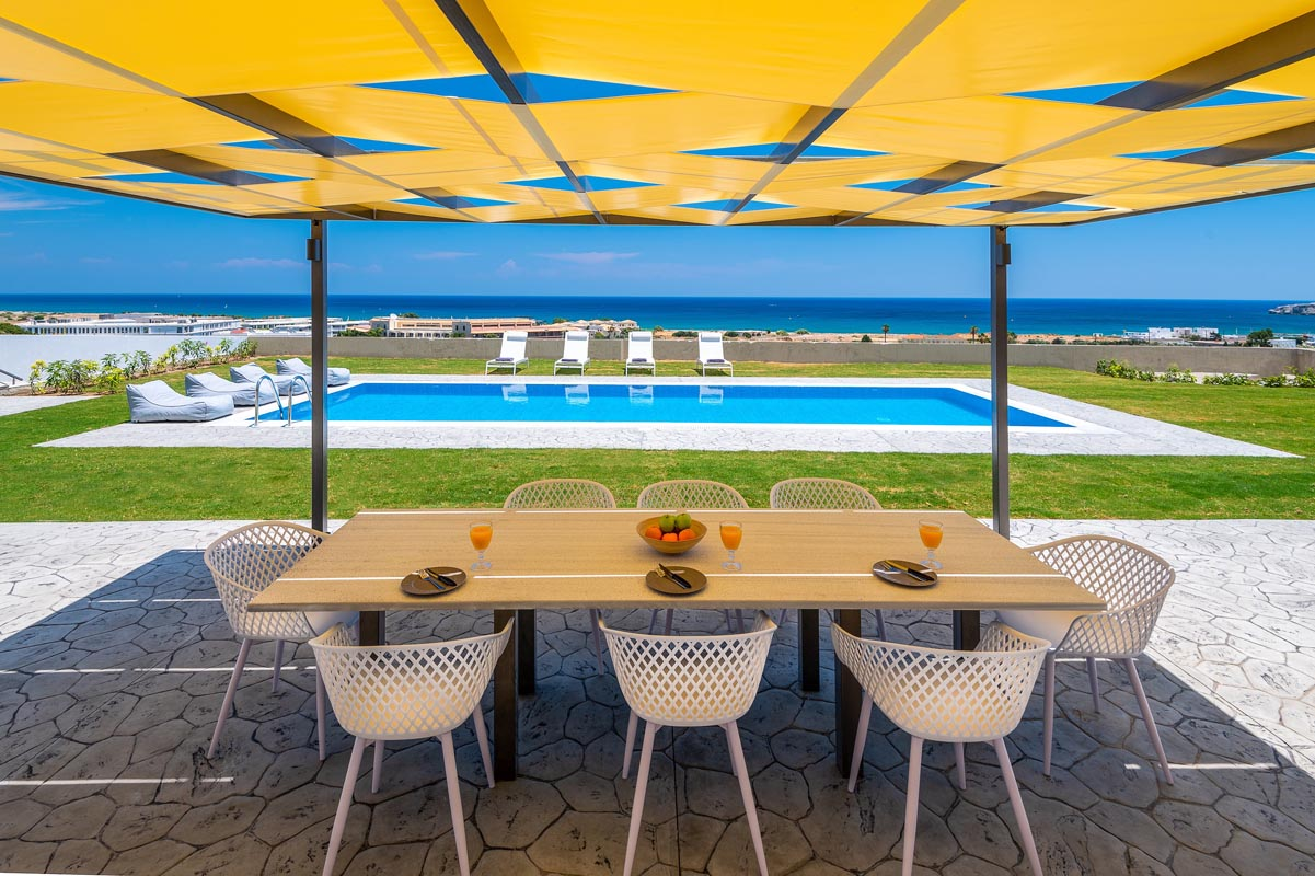 Rhodes Holidays Hill and sea View Villas Up to 8 Rhodes 23